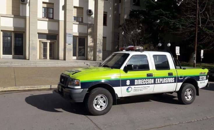 Por una amenaza de bomba, desalojaron los Tribunales de Azul