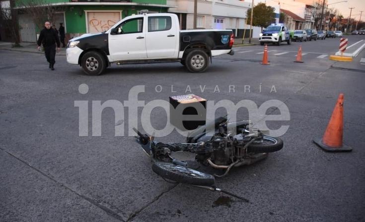 Un motomandados resultó herido tras un accidente