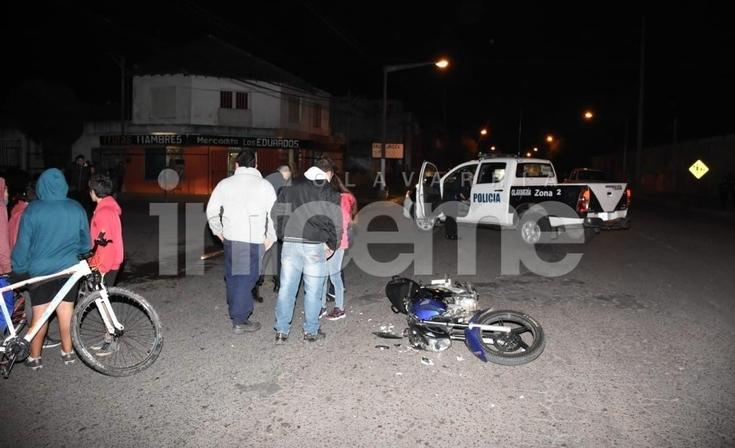 Accidente: una embarazada y un hombre resultaron heridos