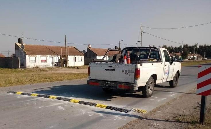 Realizaron trabajos de seguridad vial en distintos puntos de la ciudad