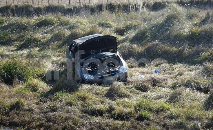 Despiste y vuelco sobre Ruta 226: una mujer herida