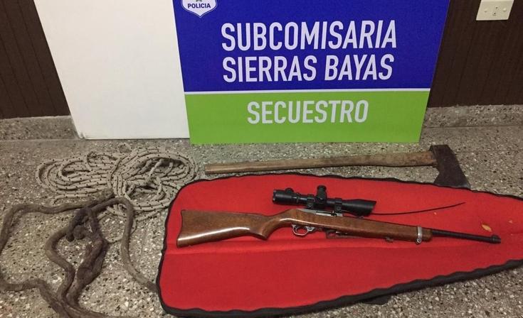 Secuestran un arma y varios elementos por una causa de abigeato