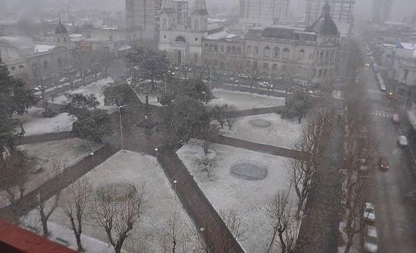 Se cumplen diez años de la histórica nevada en Olavarría