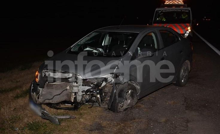 Ruta 226: un automóvil se despistó y chocó contra el guardrail
