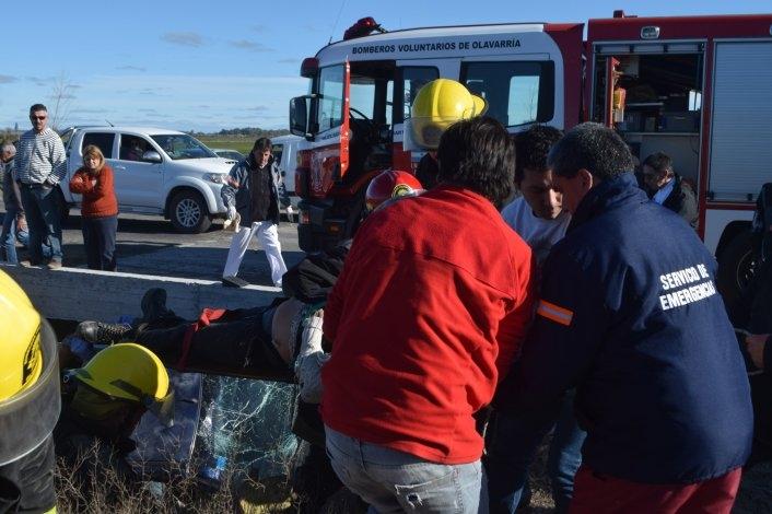 Videos: el rescate completo luego del vuelco