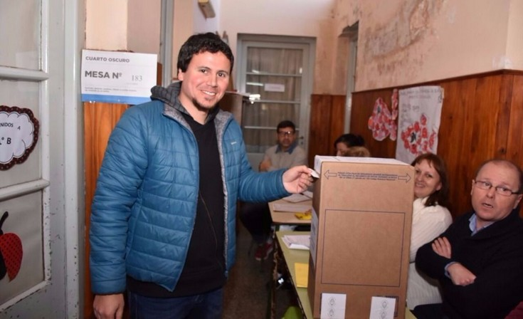 """Votó Federico Aguilera: """"Hay mucha fe de que tendremos un buen resultado"""""""