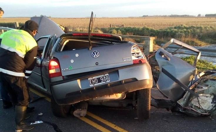 Impresionante accidente en ruta 205: dos personas fallecieron