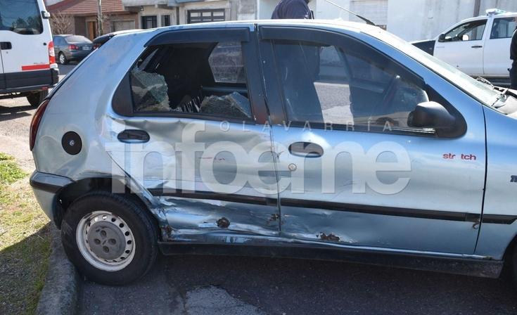 Fuerte accidente entre una combi y un auto: dos menores heridas
