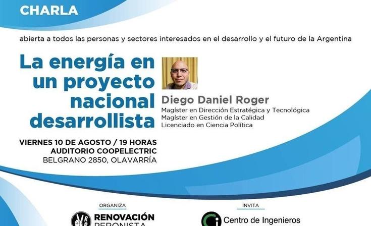"""Charla """"la energía en el Proyecto Nacional desarrollista"""""""