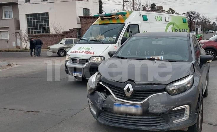 Una mujer embarazada resultó herida en un accidente