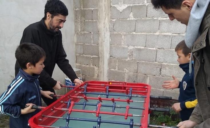 La UCR local festejó el Día del Niño en el Barrio Belén