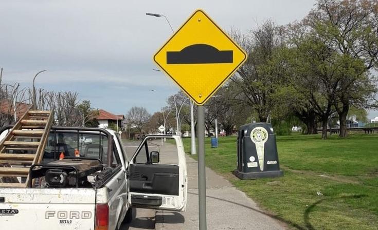 Mejoras viales en Parque Mitre y el Camino de los Pueblos