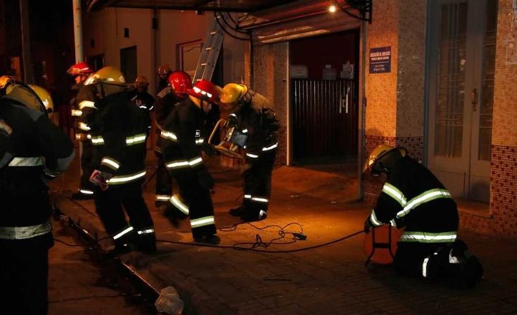 Bomberos Voluntarios: importante simulacro de evacuación en Fomento