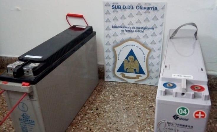 Facundo Quiroga: secuestraron dos baterías de gel en un allanamiento