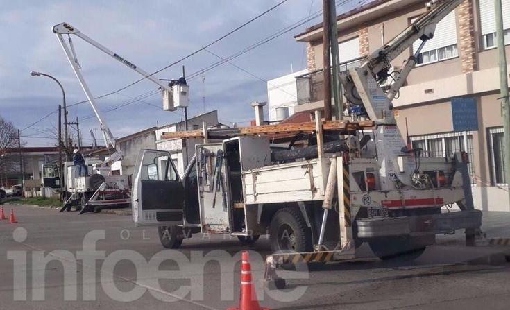 Zona de canteras y Colonia San Miguel sin luz por un cable dañado