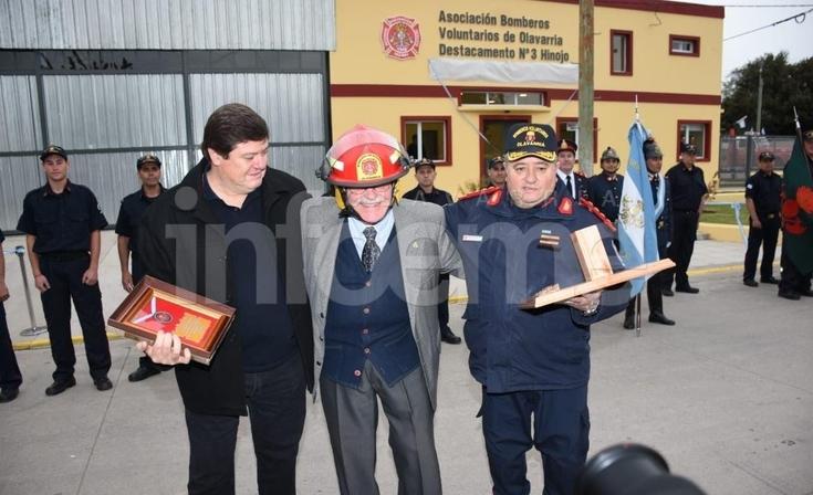 Bomberos inauguraron la nueva sede en Hinojo y celebraron su aniversario