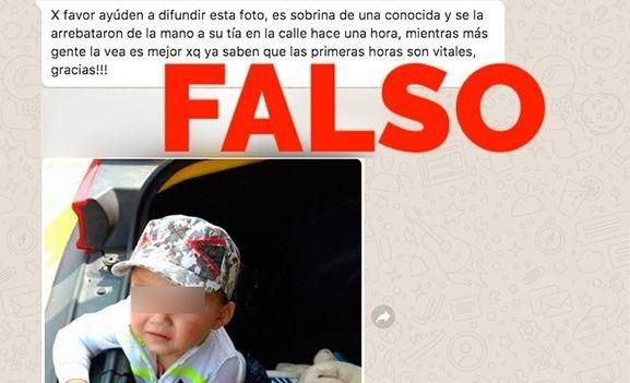 Desmienten noticia viral del  robo de un bebé en Olavarría