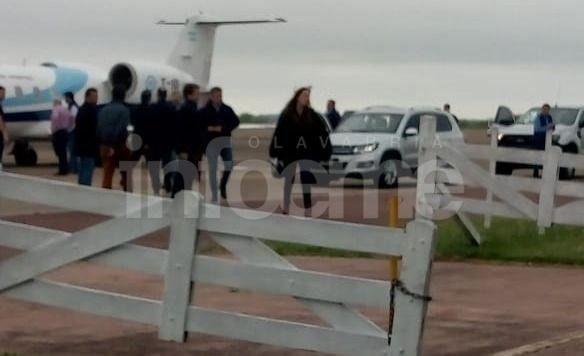 El Presidente y la Gobernadora ya están en Olavarría