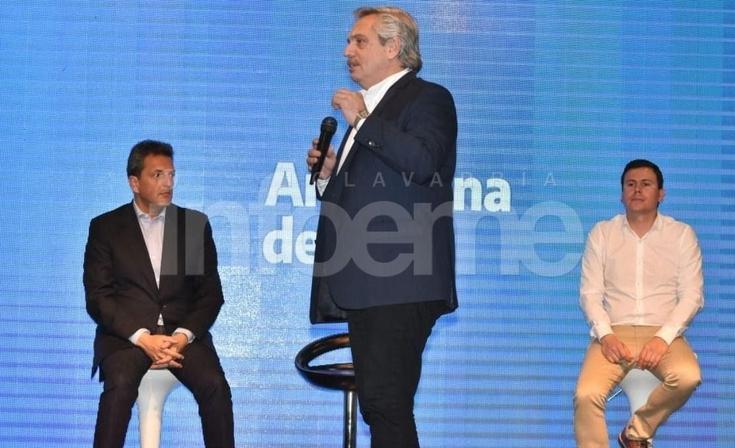 """Alberto Fernández: """"Necesitamos que  en Olavarría Federico sea intendente"""""""