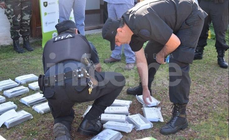 Todas las imágenes de la quema de cocaína