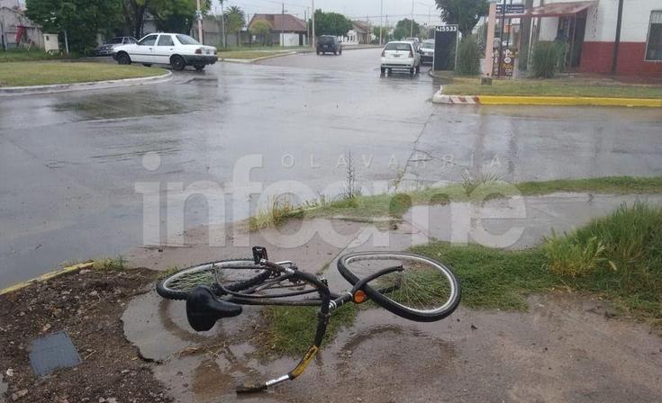Un ciclista resultó  herido en un choque