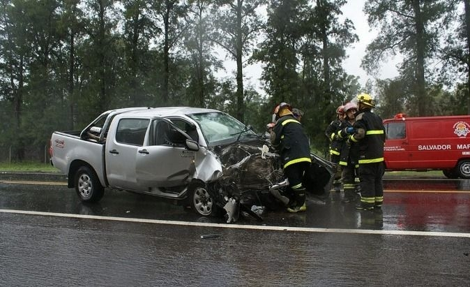 Impactante accidente fatal sobre ruta 205