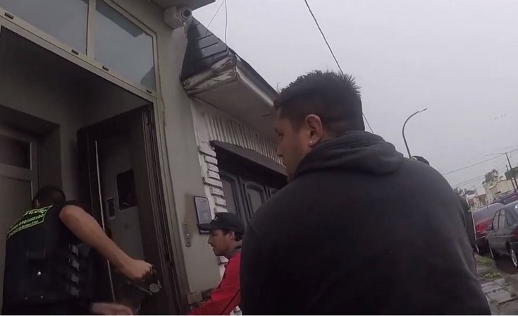 Video: así realizaban uno de los allanamientos por venta de droga y lavado de dinero