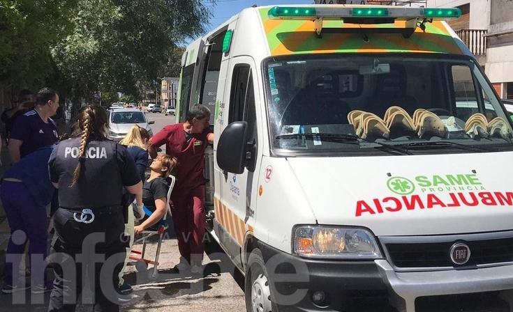 Una ciclista resultó herida tras un choque