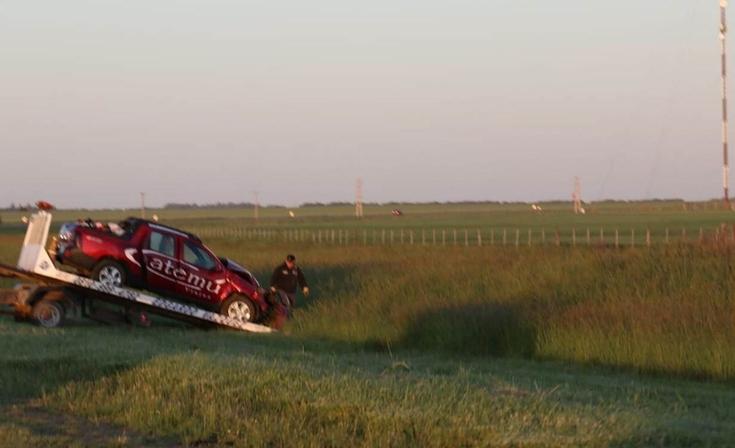 Una olavarriense resultó herida en violento accidente en la ruta nacional N° 3
