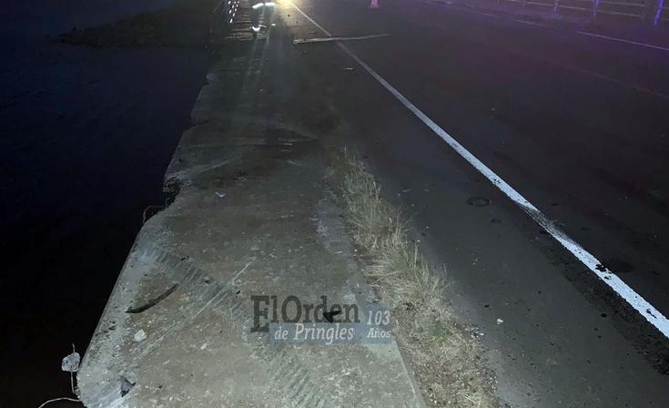 Ruta 51: por esquivar un carpincho cayeron al Dique