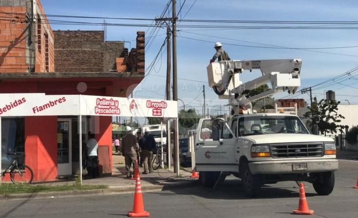 Por la caída de un cable, un sector de la ciudad sin luz