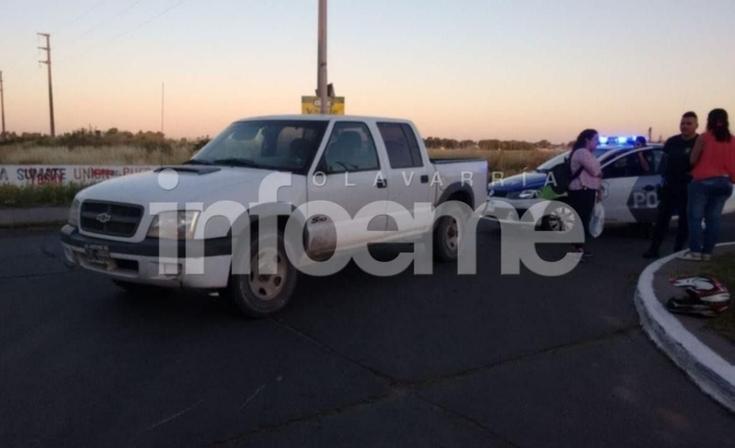 Accidente en la rotonda de Trabajadores y Urquiza: un motociclista herido