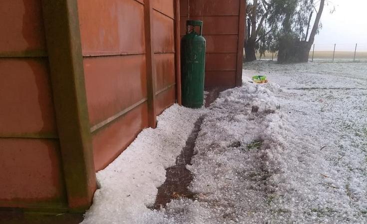 Fuerte tormenta de granizo afectó a campos de Tandil
