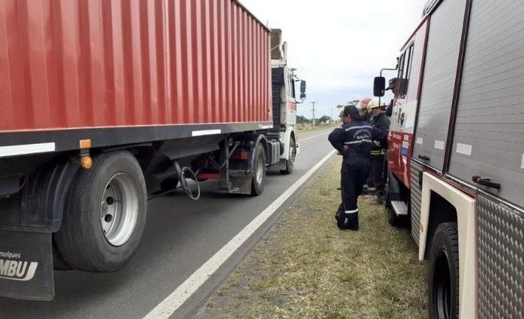 Ruta 3:  accidente entre un camión y una bicicleta